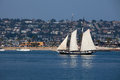 Schooner on San Diego Bay Royalty Free Stock Photo