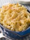 Schotel van de Kaas van de Macaroni Stock Foto