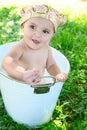 Schätzchen bath Lizenzfreies Stockfoto