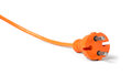 Schuko power supply plug orange Royalty Free Stock Photography