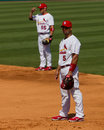 Schumaker and Pujols Stock Photography