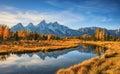 Schwabacher`s Landing, Grand Teton National Park Royalty Free Stock Photo