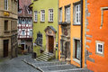 Schwabisch hall germany may painted houses in old town square is famous landmark of the town Stock Photography