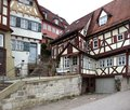 Schwaebisch hall city view of a medieval town in southern germany Stock Image