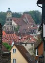 Schwaebisch hall city view of a medieval town in southern germany Royalty Free Stock Photos