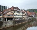 Schwaebisch hall city view of a medieval town in southern germany Royalty Free Stock Image