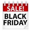 Schwarze Freitag-Ikone Stockfoto