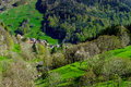 Schwarzwald mountains spring view, sunny day