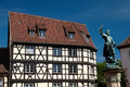 Schwendi statue, Colmar, Alsace Royalty Free Stock Photography