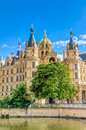 Schwerin Palace in romantic Historicism architecture style
