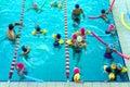 Schwimmen lektion Stockfotografie