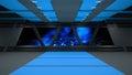 Sci-Fi corridor interior design.3D