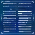 Sci-fi futuristic design loading bars set Royalty Free Stock Photo