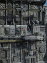 SCI-FI industrial town Stock Photography
