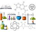Věda a chemie ikony