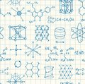 Science chemistry and physics seamless vector pattern Royalty Free Stock Photo