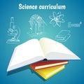 Science curriculum vector concept