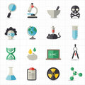 Science and education icons this image is a vector illustration Royalty Free Stock Photography