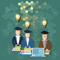 Science and education online education school board teacher Royalty Free Stock Photo