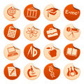 Science & education stickers Royalty Free Stock Image