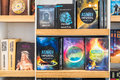 Science Fiction Books For Sale On Library Shelf Royalty Free Stock Photo