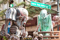 Science Fiction Creatures Scare People At Atlanta Dragon Con Parade Royalty Free Stock Photo