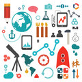 Science icon set Royalty Free Stock Photo