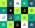 Science icons set flat series Royalty Free Stock Images