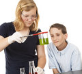 Science Kids - Chemistry Royalty Free Stock Photos