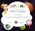 Science kids diploma template