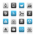 Science // Matte Icons Series Royalty Free Stock Photography