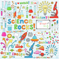 Science notebook doodles Royalty Free Stock Photo