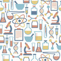 Science pattern seamless with flat icons Stock Image