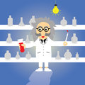 Science professor cartoon style Stock Photos