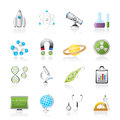 Science, Research and Education Icons Royalty Free Stock Images
