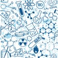 Science seamless pattern Royalty Free Stock Photo