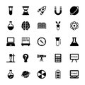 Science and Technology Glyph Vector Icons 1 Royalty Free Stock Photo
