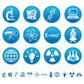 Science & technology icons Royalty Free Stock Image