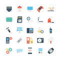 Science and Technology Vector Icons 5 Royalty Free Stock Photo