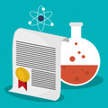 Science test tube certificate atom school
