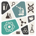 Science theme background icpns Stock Photo