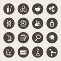 Science theme icon set Stock Photos