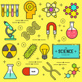 Science Vector Icon Set Royalty Free Stock Photo