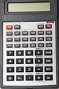 Scientific calculator on the white background Royalty Free Stock Photo