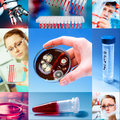 Scientific collage background medical research Royalty Free Stock Photography
