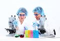 Scientific laboratory workers medical research Stock Photo