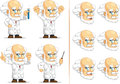 Scientifique ou professeur customizable mascot Images stock