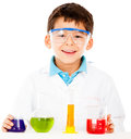 Scientist boy Stock Images