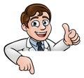 Scientist Cartoon Character Sign