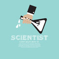 Scientist conceptual vector illustration eps Royalty Free Stock Photos